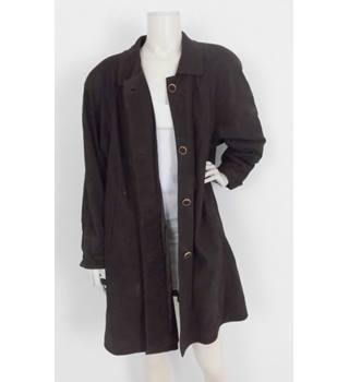 54f574b3b18b Vintage 80's Alta Moda Firenze Size:14 Brown Leather Coat