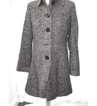 2fc1cb69e7b6d Vintage Mrs Peel - Size: 10 - Black / brown patterned - Smart coat