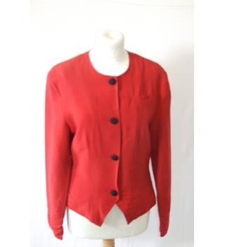 45723edccdd9 vintage 80s 90s Coppernob 10 rust red tailored fitted blazer jacket designer