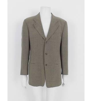 83738fed44 Vintage 90's Giorgio Armani Size:XL Beige Single Breasted Suit Jacket