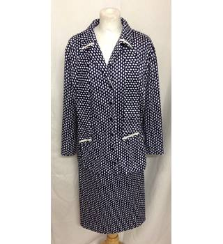 35a233bca0 Linda Leigh Navy & White Skirt Suit ...