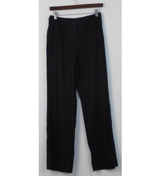 6598825d381 MARILYN ANSELM design for HOBBs Black Linen Straight Leg Trousers Size 8  Regular
