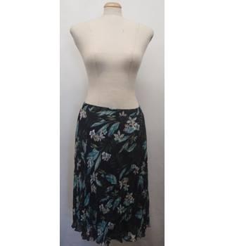 9fc61c70df Long Black Floral Skirt M&S Marks & Spencer - Size: 20 -