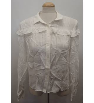 a6bad9d7bfd63c White Tartan Style Shirt M&S Marks & Spencer - Size: 10 -