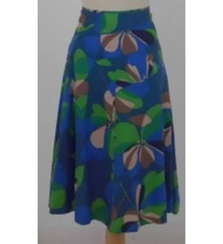 4ed4ea4454 Monsoon Size 12 Blue, green and brown A line skirt
