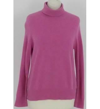 632918e21a1207 Marks & Spencer Size: 14 Rose Pink Turtle Neck Cashmere Jumper