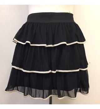 12e1d4de92 Black Frilled Mini Skirt from Miss Selfridge, Size 12