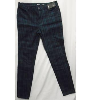"2b70617a83 windowpane check skinny jeans TU by Sainsbury's - Size: 34"" - Blue ..."