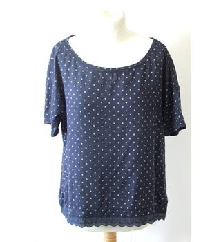 029687f84f521d Tommy Hilfiger M blue soft lightweight loose smock star print pattern  americana top shirt blouse slouch