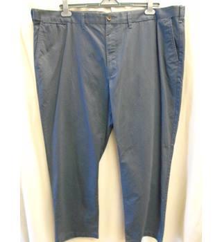 """a600ec1c9f26 M&S Collection Pure Cotton, AF Blue Trousers, Size 48"""" M&"""
