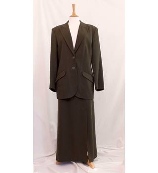 398788683 Dark Green Suit with long skirt by Paul Costelloe Dressage, Size 16