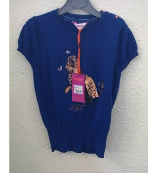 b940a354fa1e35 BNWT Ted Baker Blue Sequined Short Sleeve Jumper Size 6-7 Years