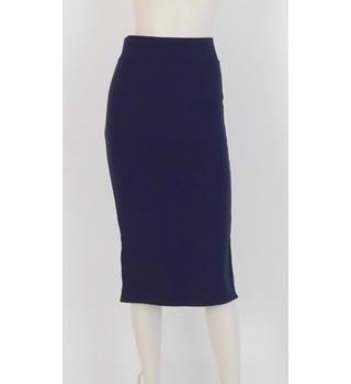 20266195f0 NWOT M&S Size 10 Navy and Pink Detail Pencil Skirt