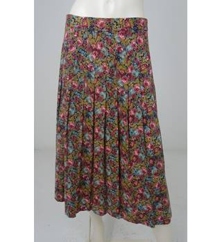 bbf97d50dd Vintage 80's Laura Ashley Size 16 Green, Pink, Blue Floral Pleated Skirt