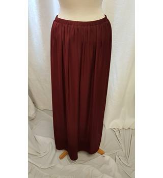 8fceea7fc Wine Red Zara Skirt Zara - Size: M - Red - Long skirt