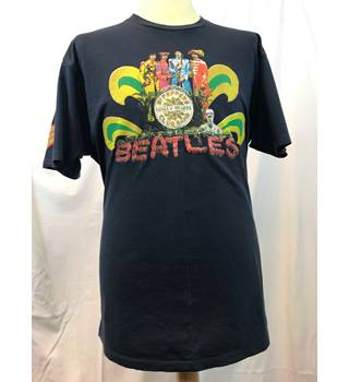 e84edc31e2c3 The Beatles Sgt. Pepper Tshirt Navy XL Size: XL - Blue - Short sleeved