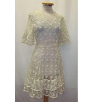 944a25986 ALLSAINTS - Size: 8 - Cream / ivory - Mini dress