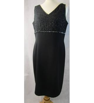 a39c224bf7d Beaded little black dress Planet - Size: 14 - Black
