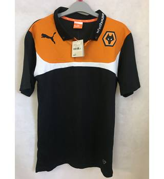 1d6c653f595e3 Wolves Adults Small Polo shirt BNWT Wolves - Size: S - Black - Polo shirt
