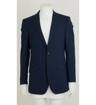 2df47b7f502 M & S Collection Size 38L Navy Faint Pinstripe Wool-Rich Suit Jacket