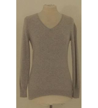 8501010e35d797 M&S Petite Size 8 Light Grey Cashmere Jumper