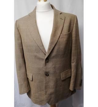 5f4757a7 Brook Taverner Size XL Beige, Blue, White Checked Jacket