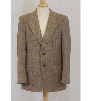 ee4c855c093 Dunn & Co - Size: M - Vintage brown Harris tweed jacket