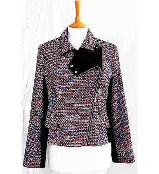 c2372181c9d53b Multi-coloured fitted biker-style jacket from Tu, Size 16