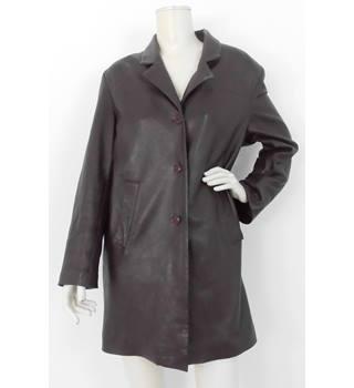 1ce0bc0b1c6 Vintage 90's Teodem London Size:18 Brown Leather Coat