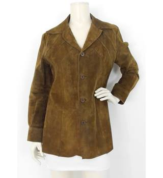 9da9028ca45 Vintage Lake 6 Size 10 Brown Leather jacket