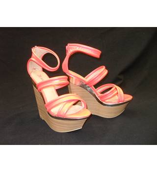 71d2b71b6 JustFab high heel wedges Just Fab - Size: 8 - Orange - Heeled shoes