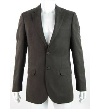 """0baefae24a7 BNWOT - M&S Collection - 38"""" Long - Brown - Regular Fit Textured"""