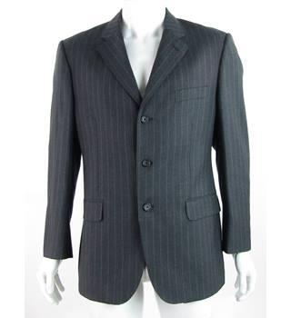 "16023bc3489 Aquascutum - 42"" - Grey Pinstripe - Pure Wool Single Breasted Suit  Jacket"