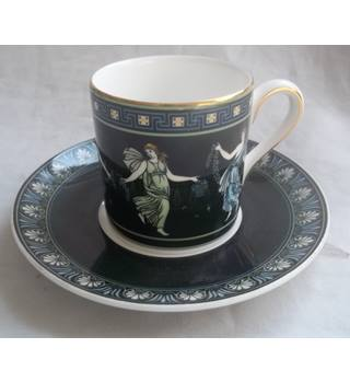 d31c9ce1dc7 Vintage 1996 Wedgwood Bone China Coffee Cup And Saucer Floral Girls Pattern