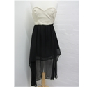 Rare London Strapless Dress Rare London - Size: 8 - Black - Strapless dress