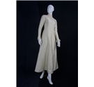 Vintage circa 1960's Bridal House Salon Size 10 - 12 Silk Embellished Wedding Dress