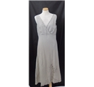 Monsoon size 10 beige linen sleeveless dress