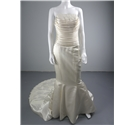Gorgeous Mirror Mirror Size 10 Ivory Fishtail Wedding Dress With Lace Train