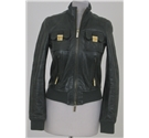 Bay's Edit DSquared2 size: S green leather jacket