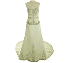 Stunning Size 12/14 Embellished Champagne Satin Wedding Dress