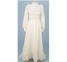 Vintage size S cream wedding dress