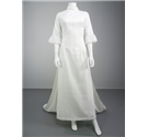 Lovely Broderie Anglaise Patterned Size 10 White Wedding Gown