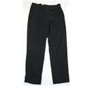 Whistles Size: 10 Charcoal Grey Pinstripe Wool Mix Straight Leg Trousers