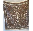 Vintage Bronze and Cream Paisley Scarf Unbranded - Metallics