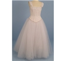 Ritva Westenius, size S, cream & white 2 piece wedding dress