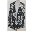 NWOT M&S size: 8 black/white floral top