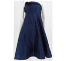 Coast Size 12 Navy Metallic strapless cocktail dress