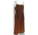 BNWT Aftershock Size L Bronze Thin Straps Long Dress