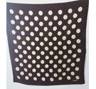 Vintage Margaret Howell Brown & Cream Polka Dot Scarf