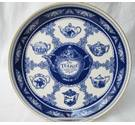 Ringtons 'The Teapot collection' large blue and white platter 10-inch diameter.